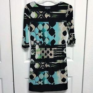 Luxology Dress Size S Geometric Print